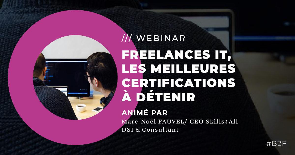 Freelances IT, les meilleures certifications à détenir !